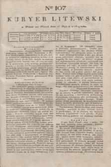 Kuryer Litewski. 1819, Ner 107 (13 maja) + dod.