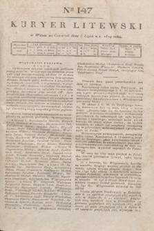 Kuryer Litewski. 1819, Ner 147 (3 lipca) + dod.