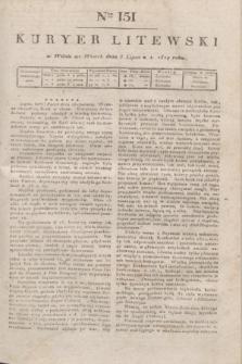 Kuryer Litewski. 1819, Ner 151 (8 lipca) + dod.