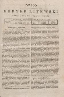 Kuryer Litewski. 1819, Ner 155 (12 lipca) + dod.