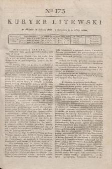 Kuryer Litewski. 1819, Ner 173 (2 sierpnia)
