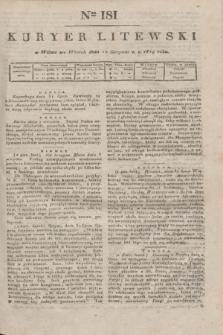 Kuryer Litewski. 1819, Ner 181 (12 sierpnia) + dod.