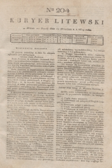 Kuryer Litewski. 1819, Ner 204 (10 września) + dod.
