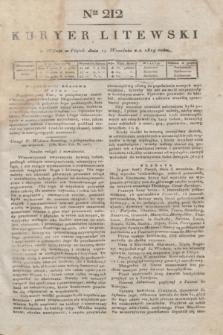 Kuryer Litewski. 1819, Ner 212 (19 września) + dod.