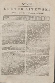 Kuryer Litewski. 1819, Ner 219 (27 września) + dod.