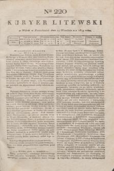 Kuryer Litewski. 1819, Ner 220 (29 września)