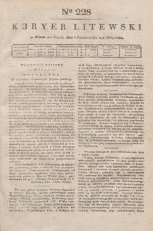 Kuryer Litewski. 1819, Ner 228 (8 października)