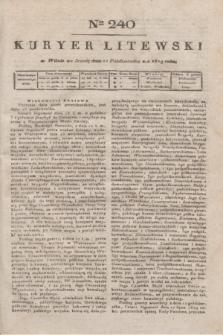 Kuryer Litewski. 1819, Ner 240 (22 października)