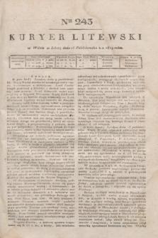 Kuryer Litewski. 1819, Ner 243 (25 października)