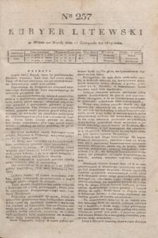 Kuryer Litewski. 1819, Ner 257 (12 listopada) + dod.