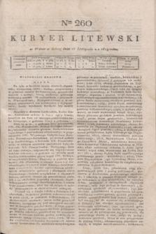 Kuryer Litewski. 1819, Ner 260 (15 listopada)