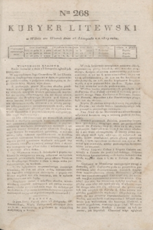 Kuryer Litewski. 1819, Ner 268 (25 listopada) + dod.