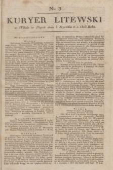 Kuryer Litewski. 1823, Ner 3 (5 stycznia) + dod.