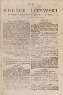 Kuryer Litewski. 1823, Ner 15 (2 lutego) + dod.