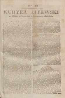 Kuryer Litewski. 1823, Ner 69 (8 czerwca) + dod.