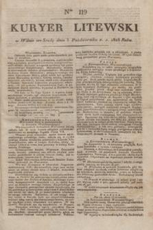 Kuryer Litewski. 1823, Ner 119 (3 października) + dod.