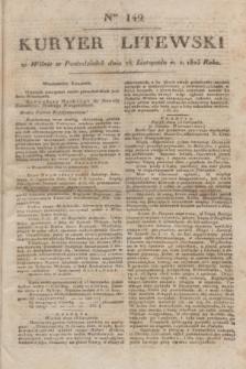 Kuryer Litewski. 1823, Ner 142 (26 listopada) + dod.