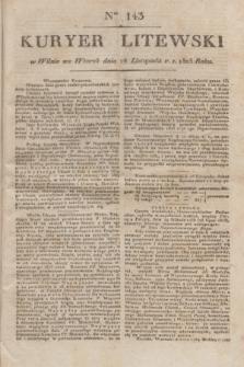 Kuryer Litewski. 1823, Ner 143 (28 listopada) + dod.