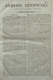 Kuryer Litewski. 1806, N. 7 (24 stycznia)