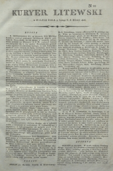 Kuryer Litewski. 1806, N. 10 (3 lutego)