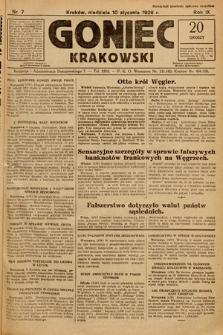 Goniec Krakowski. 1926, nr7