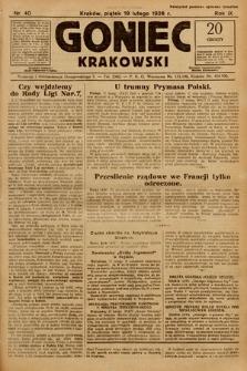 Goniec Krakowski. 1926, nr40