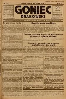 Goniec Krakowski. 1926, nr65
