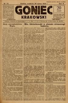 Goniec Krakowski. 1926, nr72