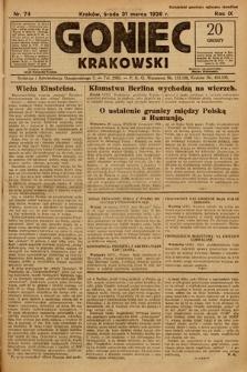 Goniec Krakowski. 1926, nr74