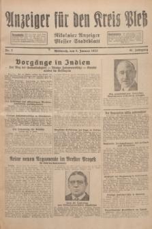 Anzeiger für den Kreis Pleß : Nikolaier Anzeiger : Plesser Stadtblatt. Jg.81, Nr. 3 (6 Januar 1932)