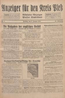 Anzeiger für den Kreis Pleß : Nikolaier Anzeiger : Plesser Stadtblatt. Jg.81, Nr. 4 (8 Januar 1932)