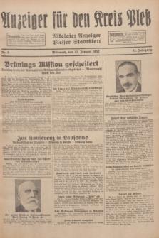 Anzeiger für den Kreis Pleß : Nikolaier Anzeiger : Plesser Stadtblatt. Jg.81, Nr. 6 (13 Januar 1932)