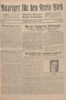 Anzeiger für den Kreis Pleß : Nikolaier Anzeiger : Plesser Stadtblatt. Jg.81, Nr. 11 (24 Januar 1932)