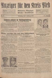 Anzeiger für den Kreis Pleß : Nikolaier Anzeiger : Plesser Stadtblatt. Jg.81, Nr. 15 (2 Februar 1932)