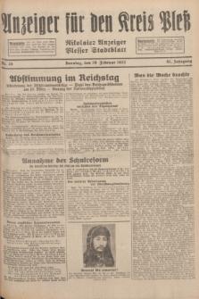 Anzeiger für den Kreis Pleß : Nikolaier Anzeiger : Plesser Stadtblatt. Jg.81, Nr. 26 (28 Februar 1932)