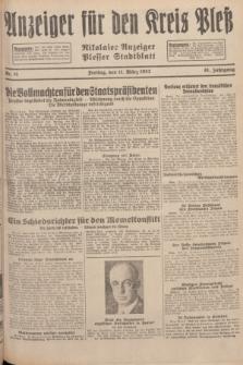 Anzeiger für den Kreis Pleß : Nikolaier Anzeiger : Plesser Stadtblatt. Jg.81, Nr. 31 (11 März 1932)
