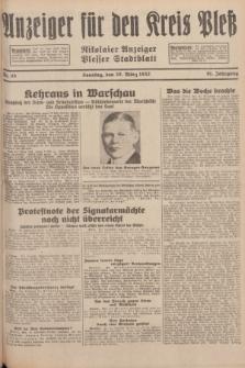 Anzeiger für den Kreis Pleß : Nikolaier Anzeiger : Plesser Stadtblatt. Jg.81, Nr. 35 (20 März 1932)