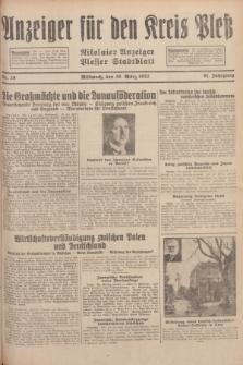 Anzeiger für den Kreis Pleß : Nikolaier Anzeiger : Plesser Stadtblatt. Jg.81, Nr. 39 (30 März 1932)
