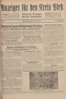 Anzeiger für den Kreis Pleß : Nikolaier Anzeiger : Plesser Stadtblatt. Jg.81, Nr. 55 (5 Mai 1932)