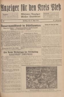 Anzeiger für den Kreis Pleß : Nikolaier Anzeiger : Plesser Stadtblatt. Jg.81, Nr. 58 (13 Mai 1932)