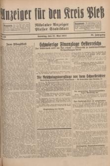 Anzeiger für den Kreis Pleß : Nikolaier Anzeiger : Plesser Stadtblatt. Jg.81, Nr. 59 (15 Mai 1932)
