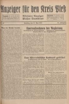 Anzeiger für den Kreis Pleß : Nikolaier Anzeiger : Plesser Stadtblatt. Jg.81, Nr. 62 (22 Mai 1932)
