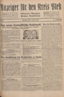 Anzeiger für den Kreis Pleß : Nikolaier Anzeiger : Plesser Stadtblatt. Jg.81, Nr. 67 (5 Juni 1932)
