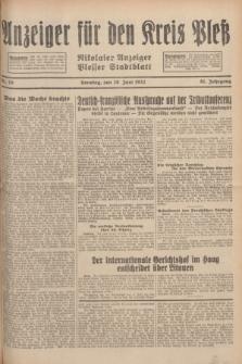 Anzeiger für den Kreis Pleß : Nikolaier Anzeiger : Plesser Stadtblatt. Jg.81, Nr. 76 (26 Juni 1932)