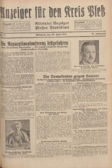 Anzeiger für den Kreis Pleß : Nikolaier Anzeiger : Plesser Stadtblatt. Jg.81, Nr. 77 (29 Juni 1932)