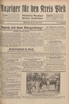 Anzeiger für den Kreis Pleß : Nikolaier Anzeiger : Plesser Stadtblatt. Jg.81, Nr. 86 (20 Juli 1932)