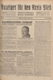 Anzeiger für den Kreis Pleß : Nikolaier Anzeiger : Plesser Stadtblatt. Jg.81, Nr. 88 (24 Juli 1932)