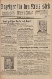 Anzeiger für den Kreis Pleß : Nikolaier Anzeiger : Plesser Stadtblatt. Jg.81, Nr. 117 (30 September 1932)