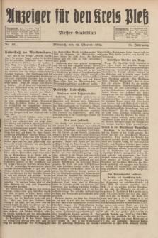 Anzeiger für den Kreis Pleß : Plesser Stadtblatt. Jg.81, Nr. 121 (12 Oktober 1932)