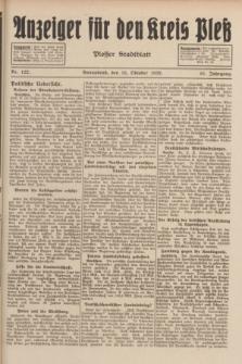 Anzeiger für den Kreis Pleß : Plesser Stadtblatt. Jg.81, Nr. 122 (15 Oktober 1932)